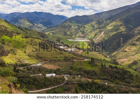 Andean village, middle of the day - stock photo