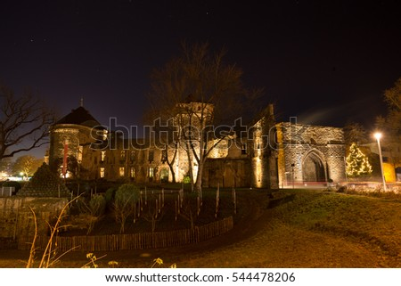 andernach historic city in germany evening lights