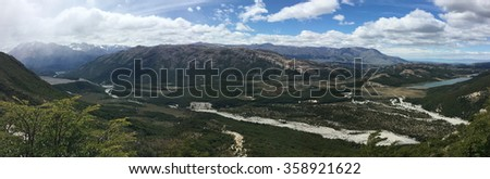 Andes Mountains vista in Argentina - stock photo