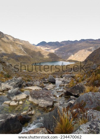 Andes scenery around Huancayo in Peru ( South America) - stock photo
