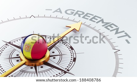 Andorra High Resolution Agreement Concept - stock photo