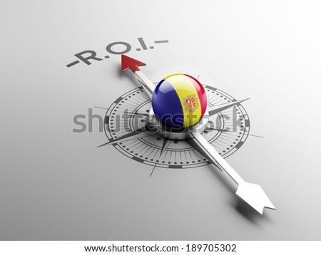 Andorra High Resolution ROI Concept - stock photo
