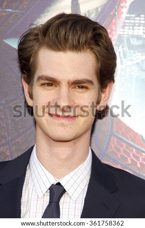 "Andrew Garfield at the Los Angeles premiere of ""The Amazing Spider-Man"" held at the Grauman's Chinese Theater, Los Angeles, USA on June 28, 2012. - stock photo"