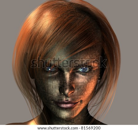 Android Female - stock photo