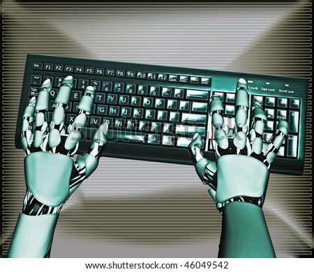 Android Keyboard - stock photo