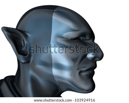 Android Super Hero With A Pointed Ears 01 - stock photo
