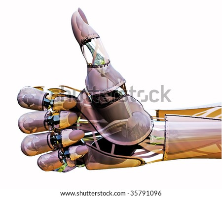 Android Thumbs Up - stock photo