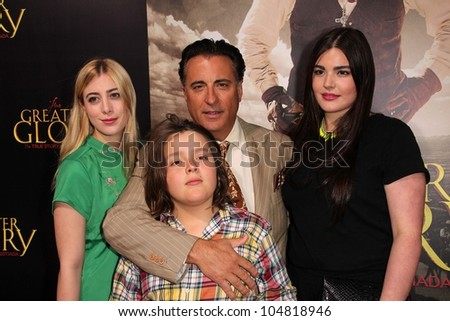 "Andy Garcia and family at the ""For Greater Glory"" Los Angeles Premiere, AMPAS Theater, Beverly Hills, CA 05-31-12"