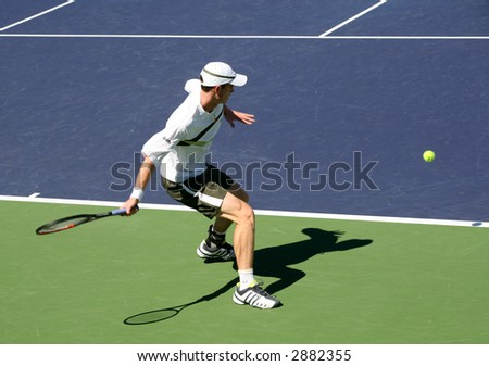 Andy Murray playing against Wesley Moodie at Pacific Life Open