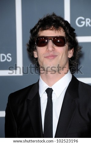 Andy Samberg at the 52nd Annual Grammy Awards - Arrivals, Staples Center, Los Angeles, CA. 01-31-10