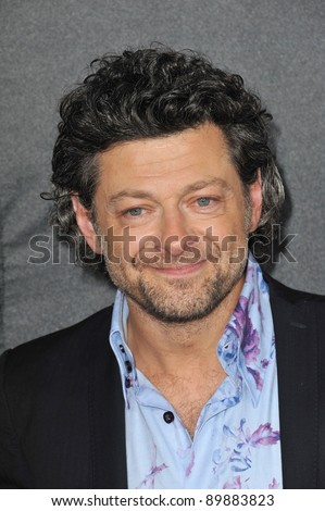 "Andy Serkis at the Los Angeles premiere of his new movie ""Rise of the Planet of the Apes"" at Grauman's Chinese Theatre, Hollywood. July 28, 2011  Los Angeles, CA Picture: Paul Smith / Featureflash"