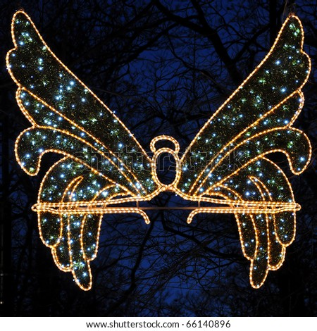 Angel as a christmas decoration - stock photo