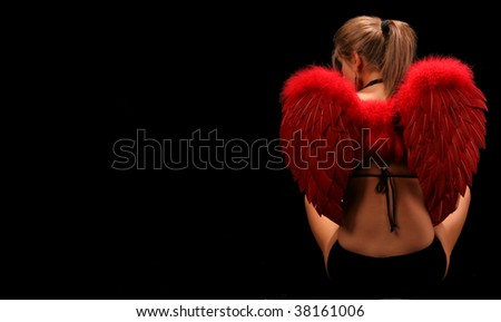 Angel Costume - stock photo