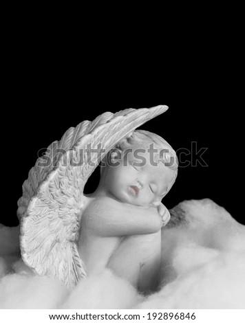 angel figurine - stock photo