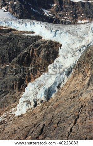 Angel Glacier at Mount Edith Cavell in Jasper National Park, Alberta, Canada.