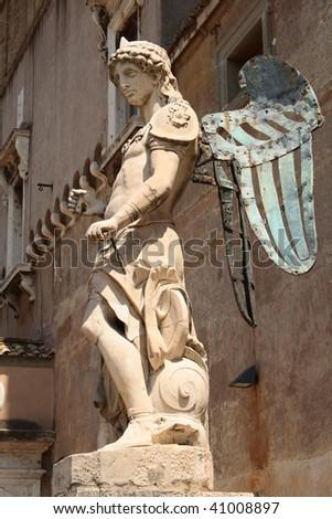 Angel in Rome - stock photo