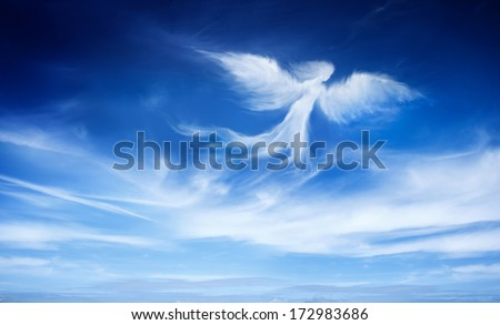 angel in the sky  - stock photo