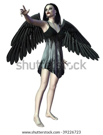 Angel of Death - pointing - stock photo