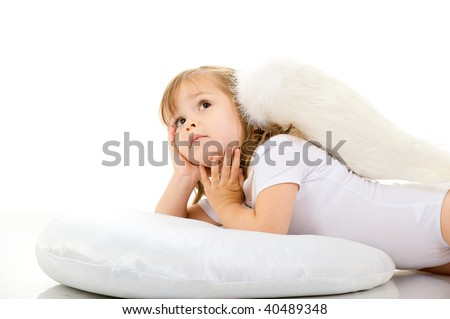 Angel on the pillow