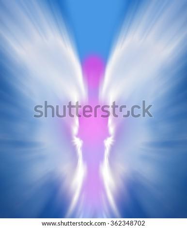 Angel on the sky - stock photo