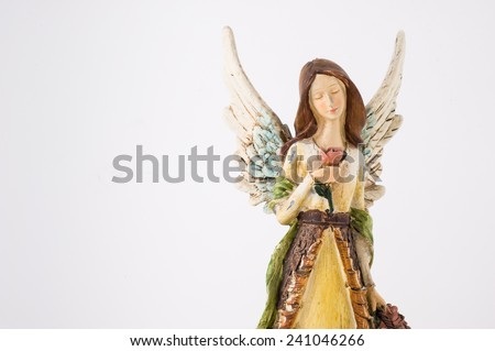 Angel on White Background  - stock photo