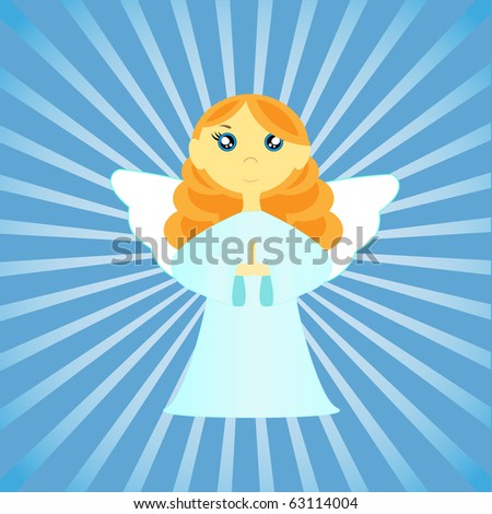 Angel .Raster version - stock photo