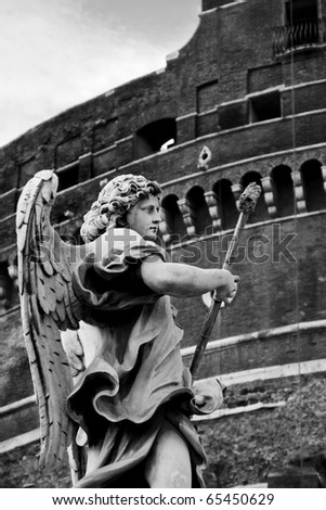 Angel sculpture from Ponte Sant'Angelo bridge in Rome