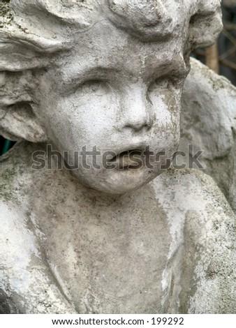 angel statue - stock photo