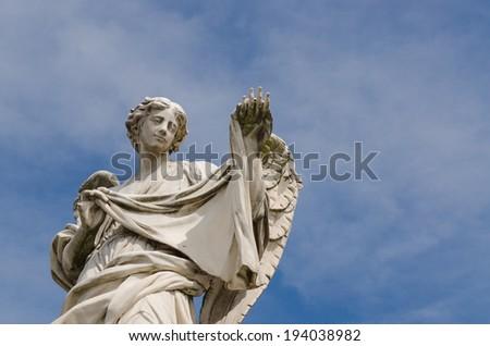 Angel statue, Castel Sant'Angelo, Rome, Italy - stock photo