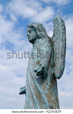 Angel statue in a old christian cemetery