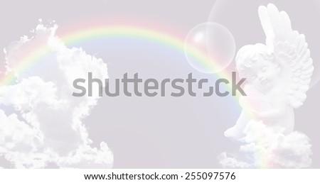 Angel website header/banner - stock photo