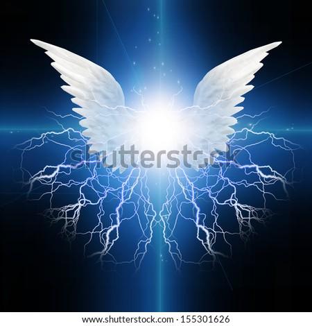 Angel winged - stock photo