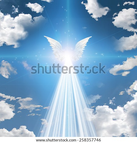 Angel winged - stock photo