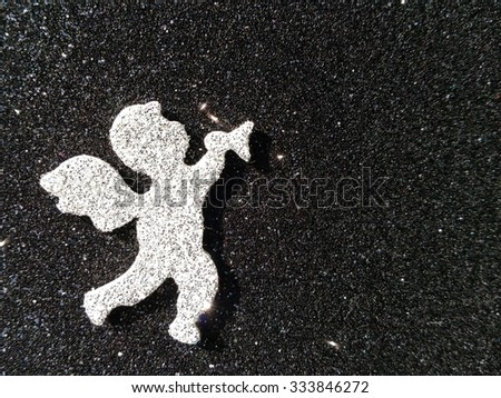 Angel with black background - stock photo