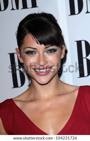 Angela Vitale at the BMI Pop Awards, Beverly Wilshire Hotel, Beverly Hills, CA 05-15-12