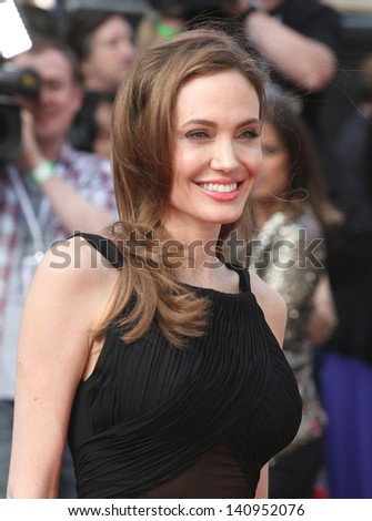 Angelina Jolie arriving for the World War Z World Premiere, at Empire Leicester Square, London. 02/06/2013