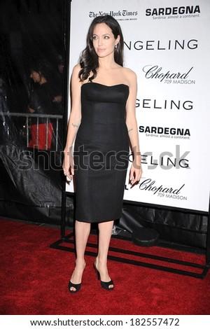 Angelina Jolie at Screening of THE CHANGELING at NY Film Festival, The Ziegfeld Theatre, New York, NY, October 04, 2008 - stock photo