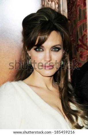 Angelina Jolie at THE TOURIST Premiere, The Ziegfeld Theatre, New York, NY December 6, 2010 - stock photo