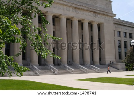 Angell Hall on the campus of the University of Michigan - stock photo