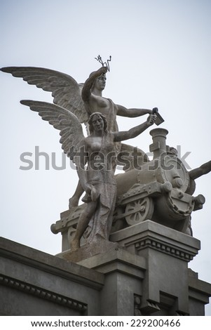 angels, Spanish city of Valencia, Mediterranean architecture - stock photo
