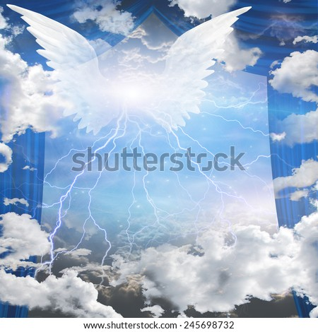 Angels winged - stock photo