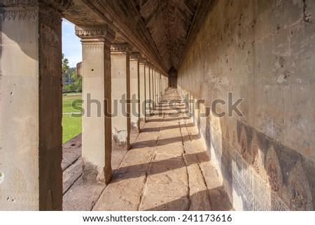 Angkor Wat, Angkor area, Siem Reap, Cambodia - stock photo