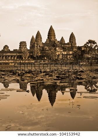 Angkor Wat , Cambodia. - stock photo