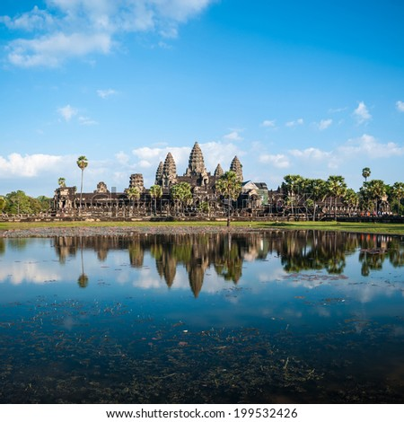 Angkor Wat Cambodia. Angkor Thom khmer temple. Travel landmark - stock photo