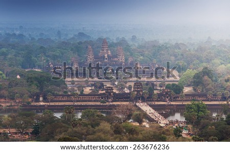 Angkor Wat in Siem reap , Cambodia - stock photo