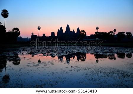 Angkor Wat Sunrise at Cambodia - stock photo