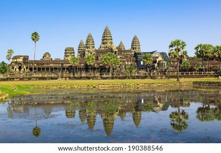 Angkor Wat temple, Cambodia - stock photo