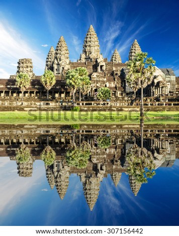 Angkor Wat Temple, Siem reap, Cambodia - stock photo