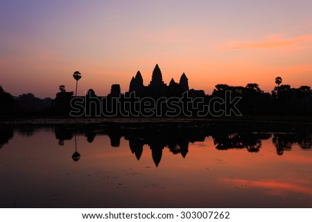 Angkor Wat with Sunrise at Siem Reap,Cambodia