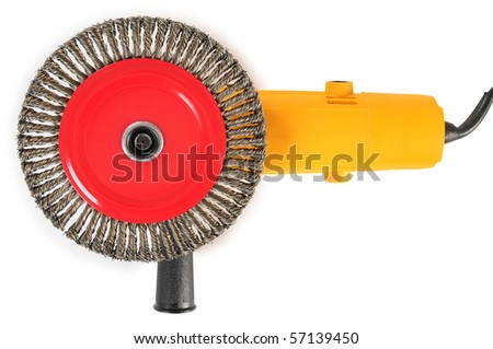 Angle grinder. Isolated - stock photo
